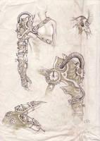 Steampunk arm design by zsofiadome
