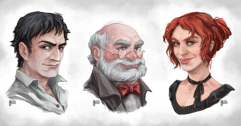 OC Portraits by zsofiadome