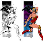 Coloring Wonder Woman illustration by Pop Mhan