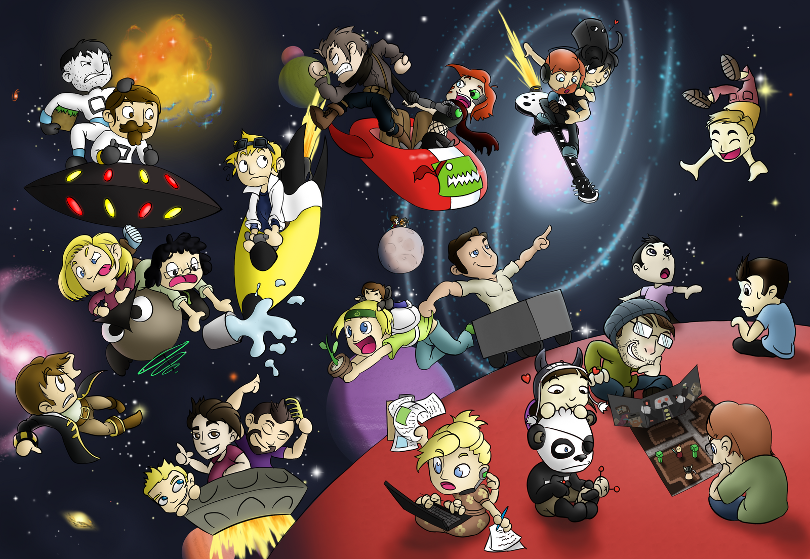 Great Wallpaper of EVERY single member of the Yogscast