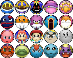 Kirby Pin Collection Part 2 -Will update later!- by Flying-pen