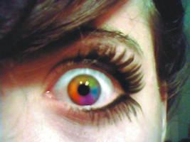 pride rainbow eye