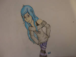 Teal with Blue Hair