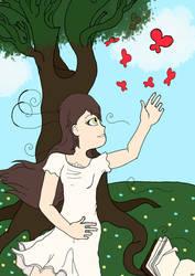 Deviantart-17-birthday-Butterfly Girl