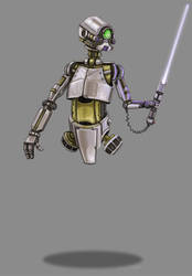 LightSaber Training Droid by StuCunningham
