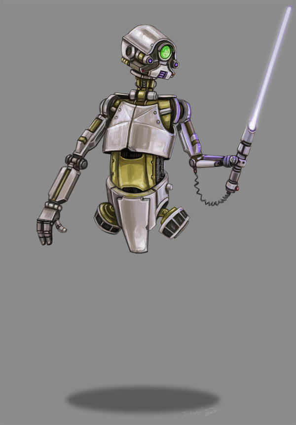 LightSaber Training Droid by StuCunningham