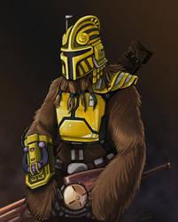 Wookiee Mandalorian by StuCunningham