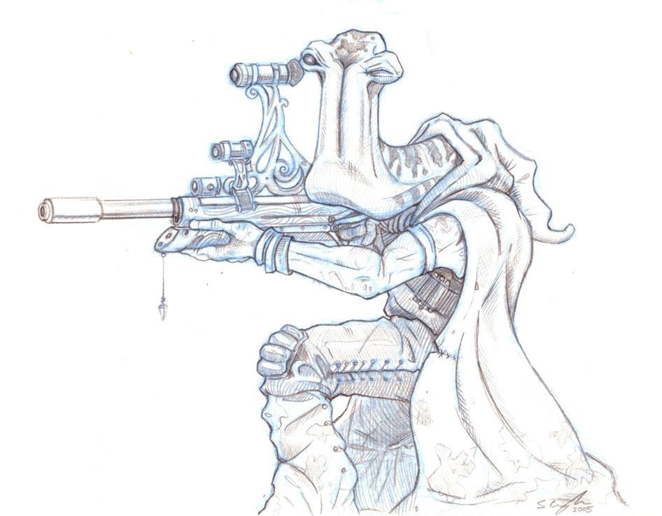 Ithorian Sniper by StuCunningham
