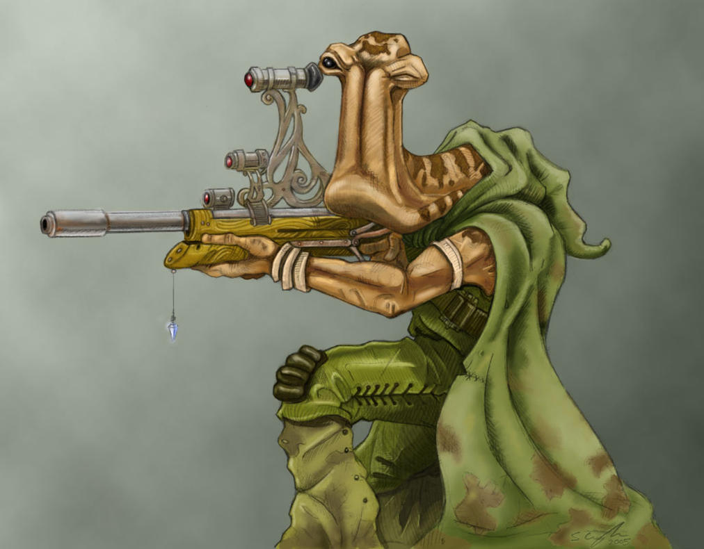 Ithorian Sniper - Colour by StuCunningham