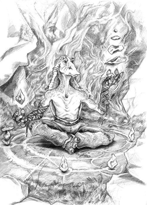 Gungan Guru by StuCunningham