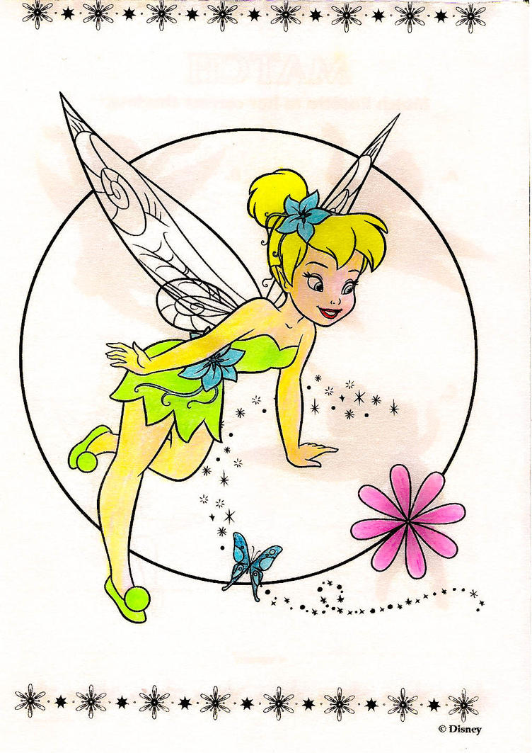 Magnificent Tinkerbell Coloring Book Adornment