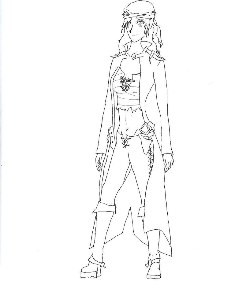 Female pirate drawing - photo#26