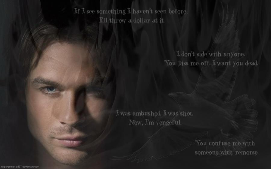 Vampire Love Quotes Wallpaper : Vamp Diaries: Damon Salvatore by Gemema537 on DeviantArt