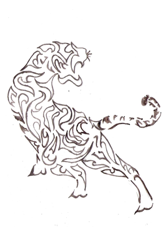 Tribal Tiger by kamokasan on DeviantArt