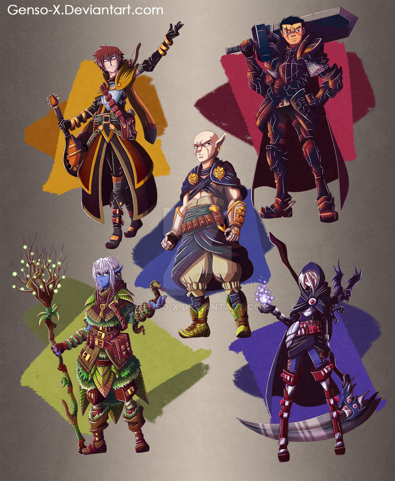 Deviantart Character Design Commission : Dungeons and dragons characters design commission by genso