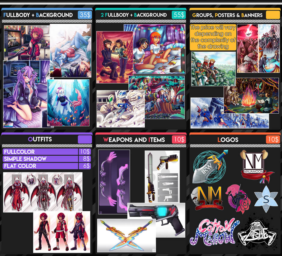 Commission Info Prices #2 2020 (Paypal) (Open) by Genso-x