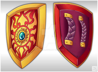 Sun Shield #2 - Weapon Commission by Genso-x