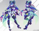 Robot Girl - Commission