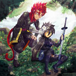 Rinu and Vandal + Speedpaint - Commission by Genso-x