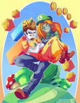 Luigi and Daisy - Patreon Commission + Speedpaint by Genso-x