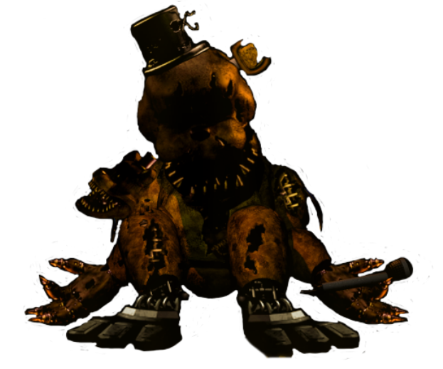Transparant Nightmare Golden Freddy by reizosaurus-64 on ...