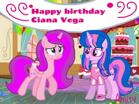 Happy birthday Ciana Vega