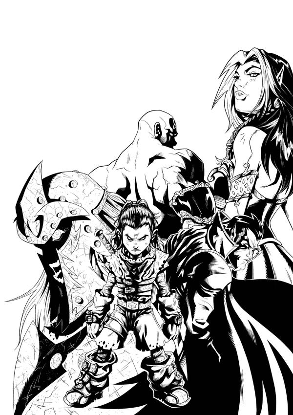 Babylon Promo inks by jamce