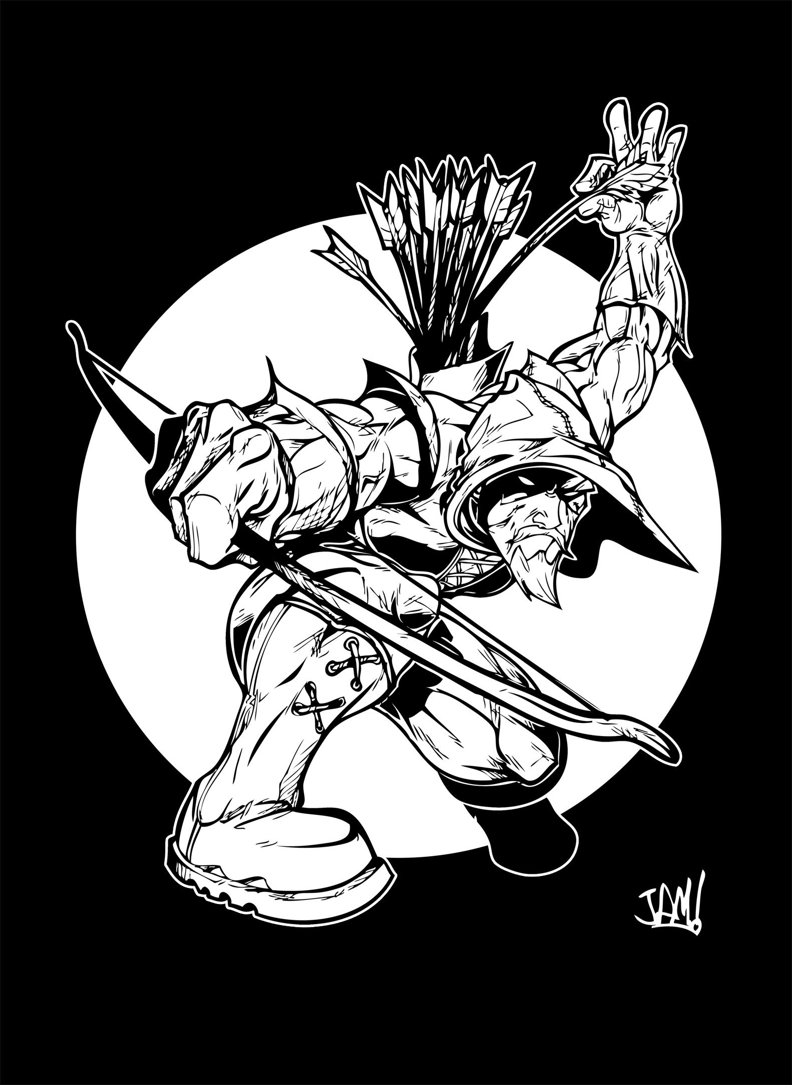 green arrow for coloring by jamce on deviantart - Green Arrow Coloring Pages