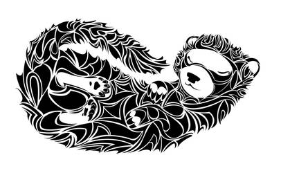 Sleeping Ferret by TaraPrince