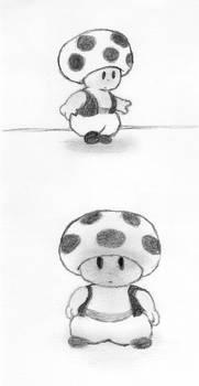 Mi dibujo de Toad - My cartoon of Toad