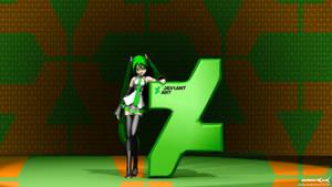 New dA logo mash-up Hatsune Miku 4k