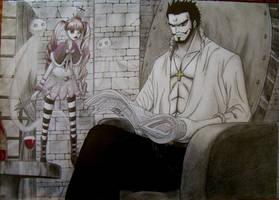 Mihawk reading by Sh1roYasha
