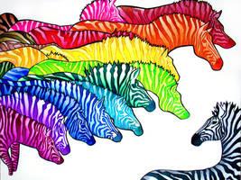 Zebradelic by PaintMyWorldRainbow