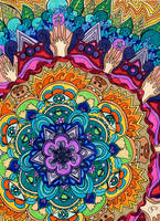 Microcosm Mandala by PaintMyWorldRainbow