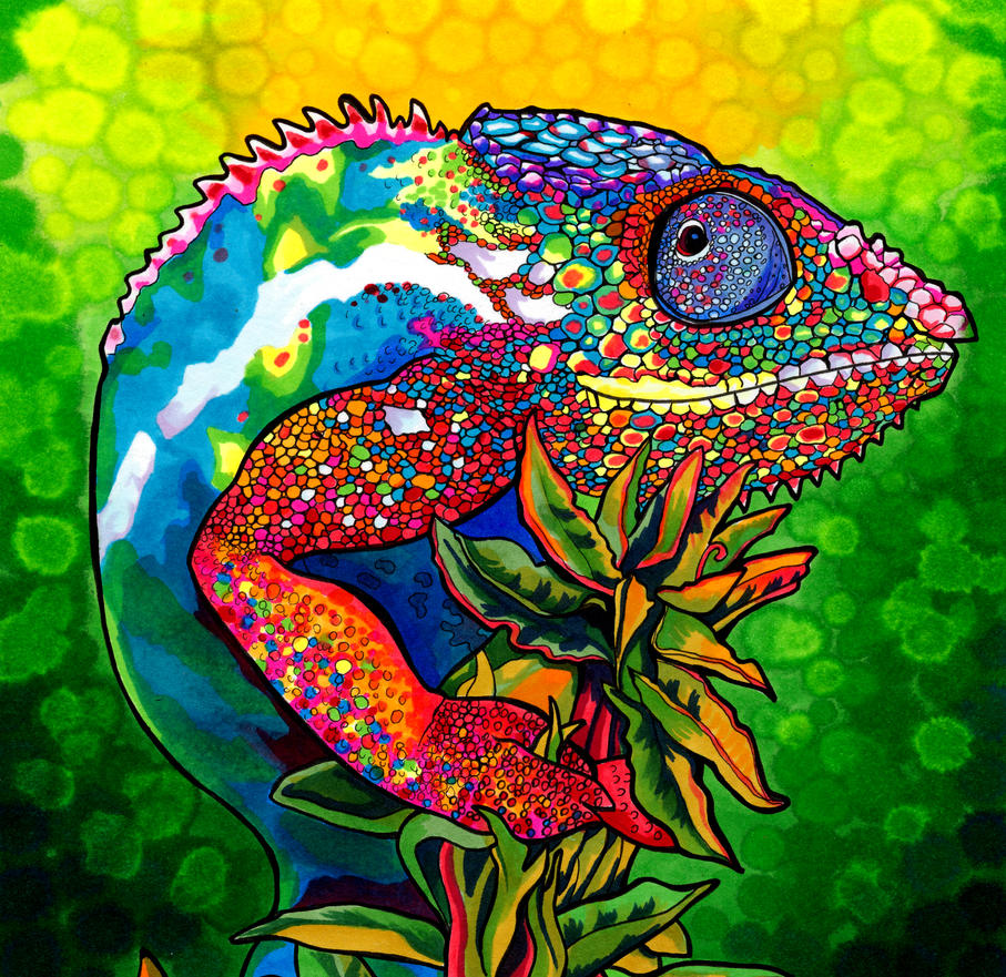 Capricious Chameleon by PaintMyWorldRainbow