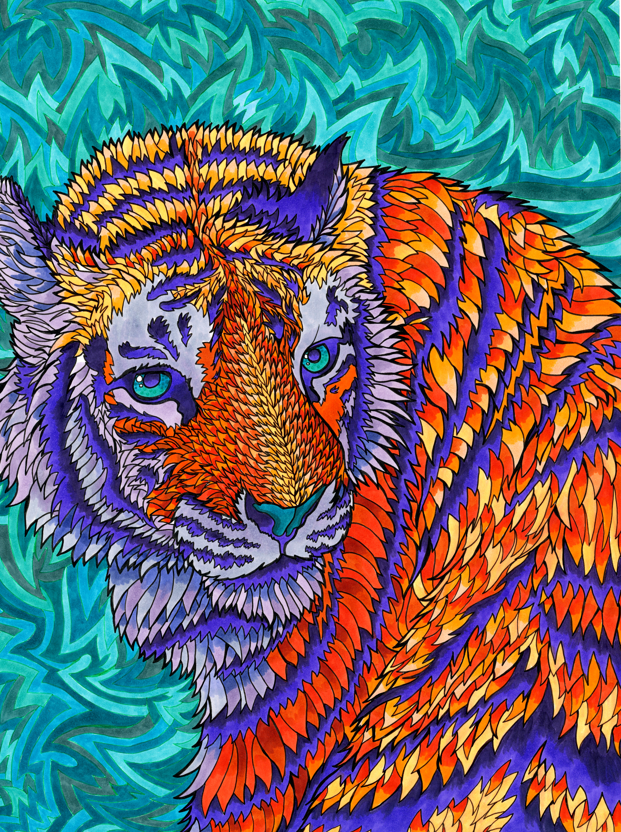 Telenergetic Tiger by PaintMyWorldRainbow