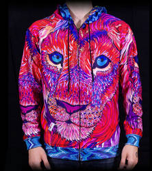 Kaleidoscopic King Ravenectar Hoodie by PaintMyWorldRainbow