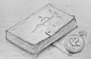 Fullmetal Alchemist - Ed Elric's watch and book