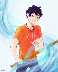 I am the son of Poseidon by Alexgv-art