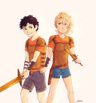 We were twelve Percy. Can you believe that.1/2
