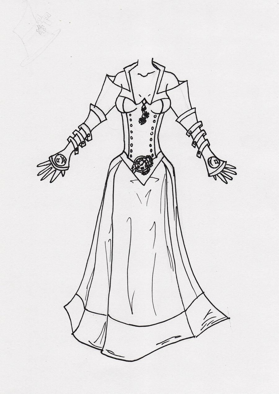 Steampunk Inspired Dress by ellenoma