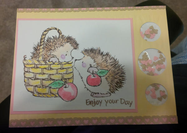 Hedgehog Birthday Card by photo-elena-graphy