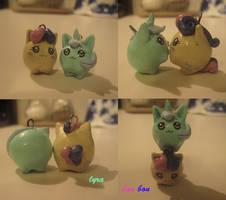Lyra and Bon Bon Charms by razzyrazz