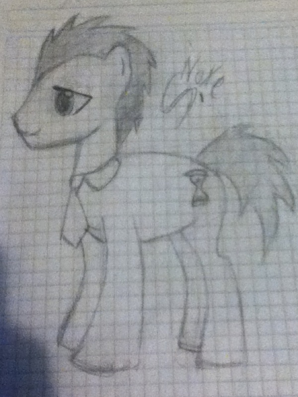 Dr. Whooves (Time Turner) sketch by Shadowxnote