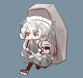 CHAIKA CARRIES A COFFIN AND GOES TO THE CHAIKA CON