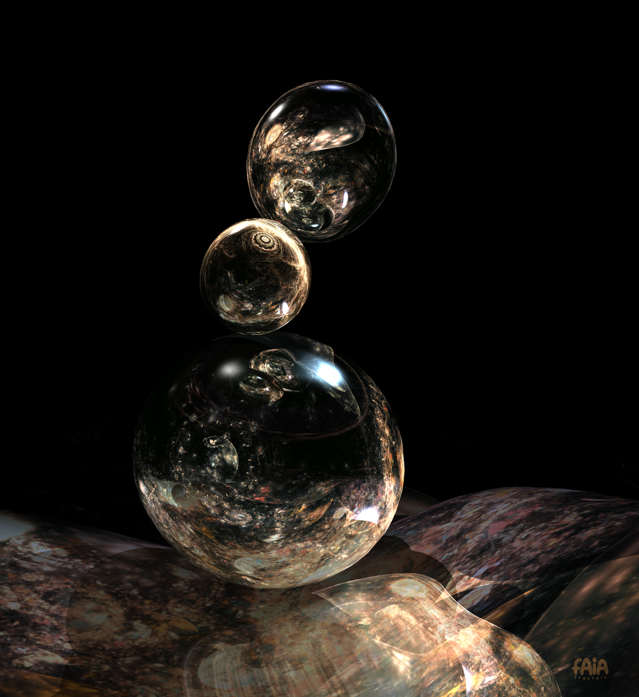 3d Fractal Balls by FAIA-Fractals