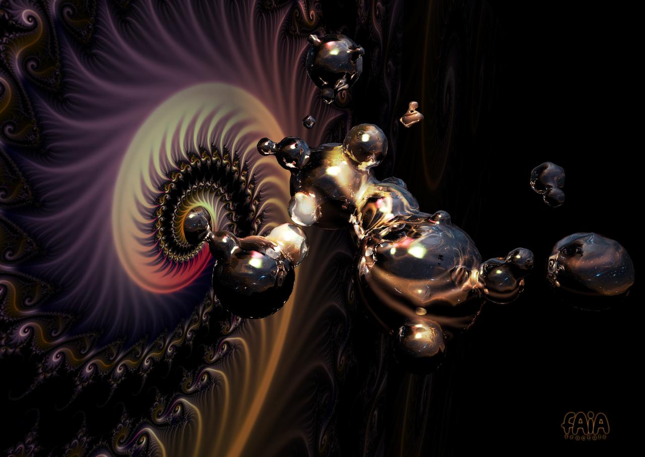 Liquid Attraction by FAIA-Fractals