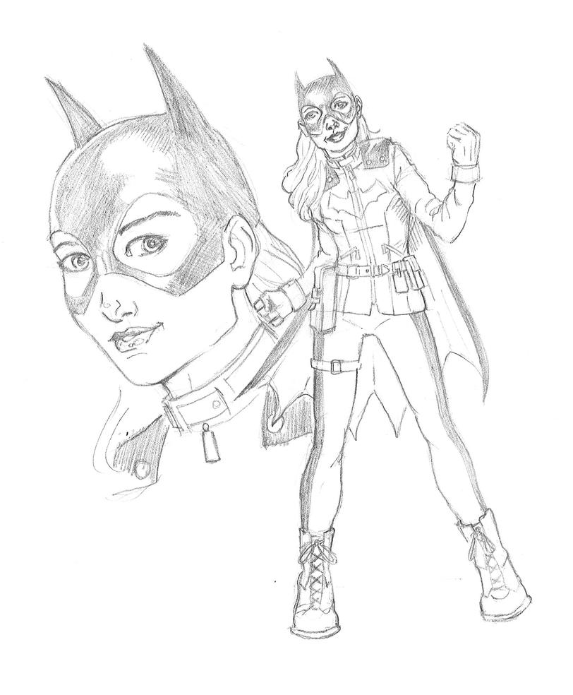 New Batgirl Sketch by JBEmmett