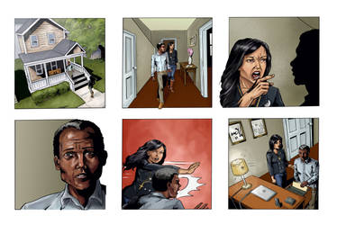 Coloring for Righteous Hands Part 1 Web Comic by JBEmmett