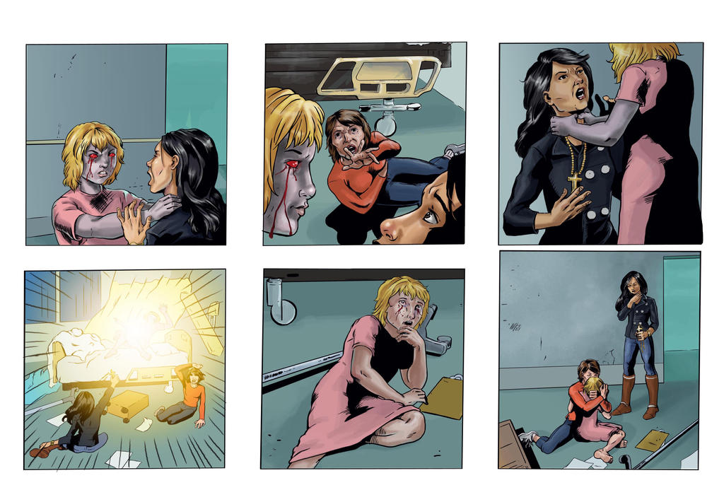 Coloring for Righteous Hands Part 9 Web Comic by JBEmmett